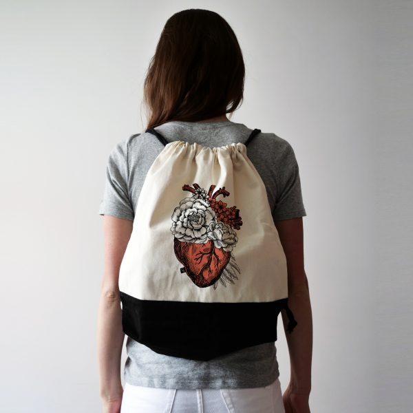 Plecak z sercem