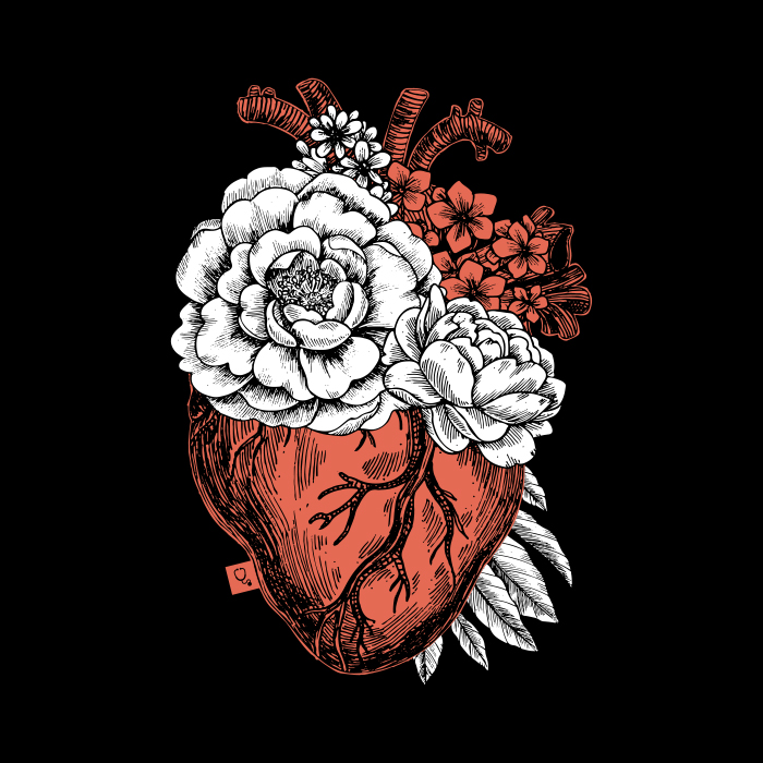 Torba z sercem (czarna)