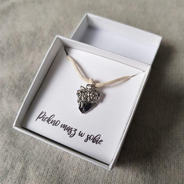 Bransoletka ze srebrnym sercem