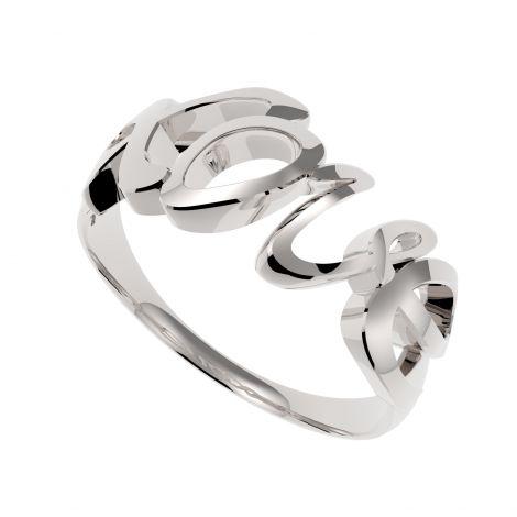 Srebrny pierścionek Love
