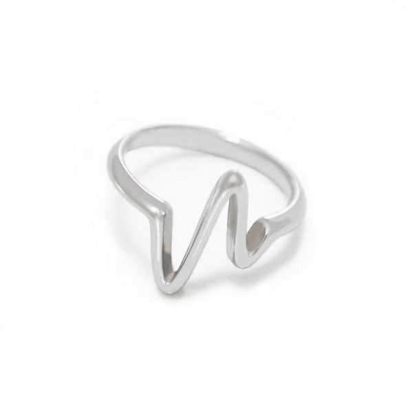 Srebrny pierścionek Linia życia