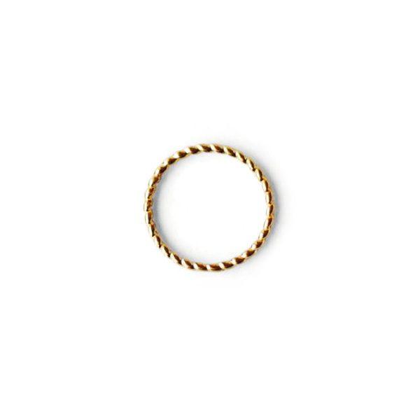 Pozłacany pierścionek Helisa