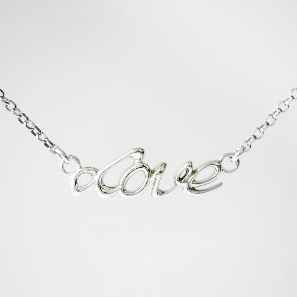 Naszyjnik LOVE srebrny