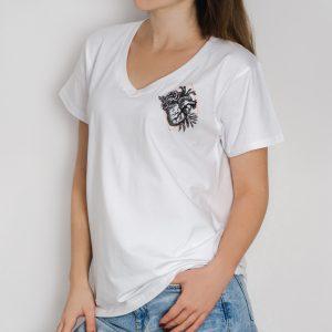 Koszulka z sercem biała